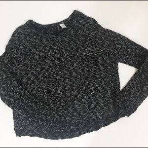 Divided by H&M Black and White Long Sleeve Sweater